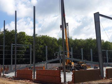 Dự án nhà xưởng thép tiền chế 2700m2 sản xuất bao bì tại Hậu Giang
