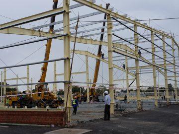 Thiết kế thi công lắp dựng nhà kho thép tiền chế 8000m2 Long An