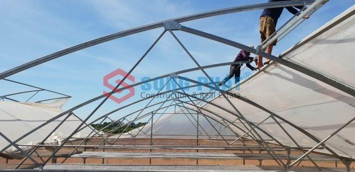 Đơn giá thi công nhà kính trồng dưa lưới 2020 mới nhất