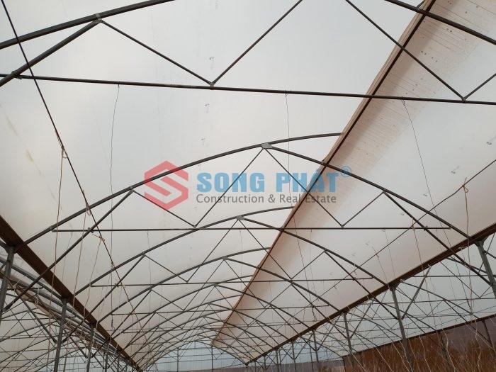 Thi công công trình nhà màng rau sạch 800m2 tại Đồng Nai