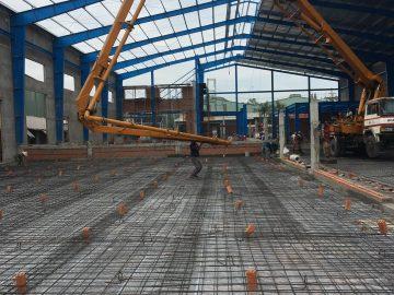 Quy trình đổ bê tông sàn nhà công nghiệp, nhà xưởng, kho chứa