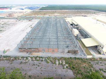 Thi công xây dựng nhà xưởng sản xuất gỗ công nghiệp tại Bình Dương