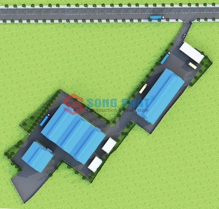 thiết kế nhà khung thép mái tôn