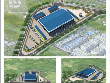 Thiết kế quy hoạch chợ dân sinh tại Lâm Đồng diện tích 8261m2