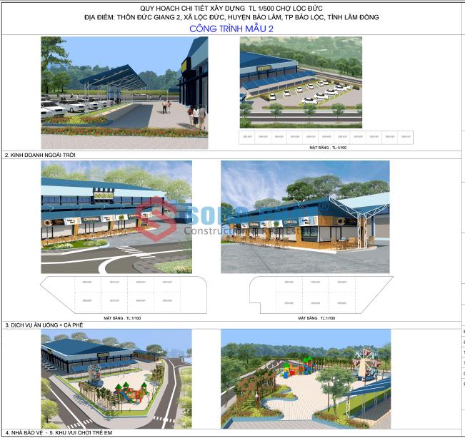 thiết kế quy hoạch chợ dân sinh